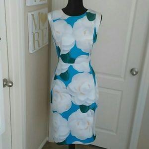 Karl Lagerfeld Floral Scuba Dress Sz 16